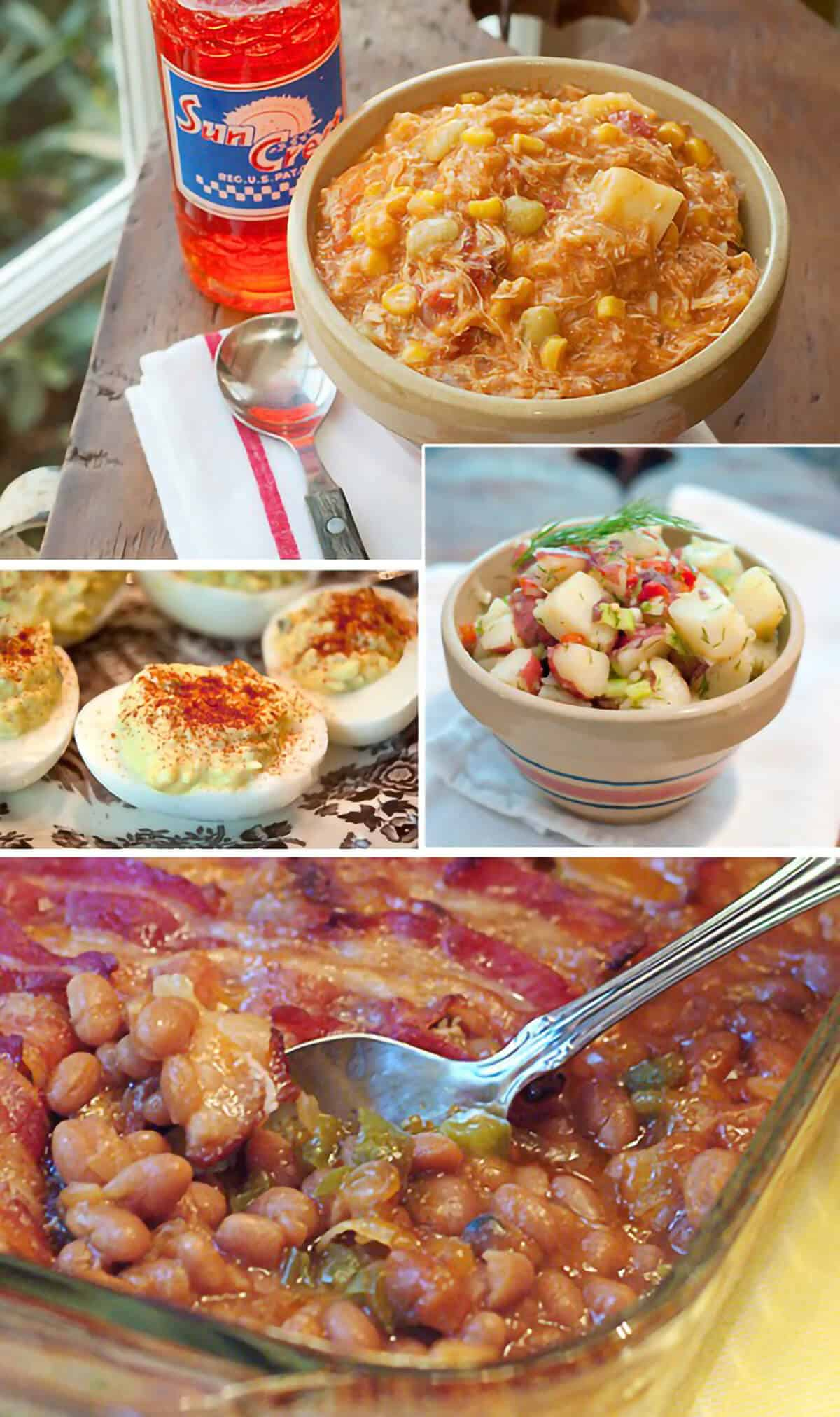 Photo collage of side dish recipes.